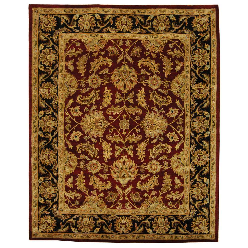 Safavieh Heritage Redblack 8 Ft X 11 Ft Area Rug Hg628c 9 The