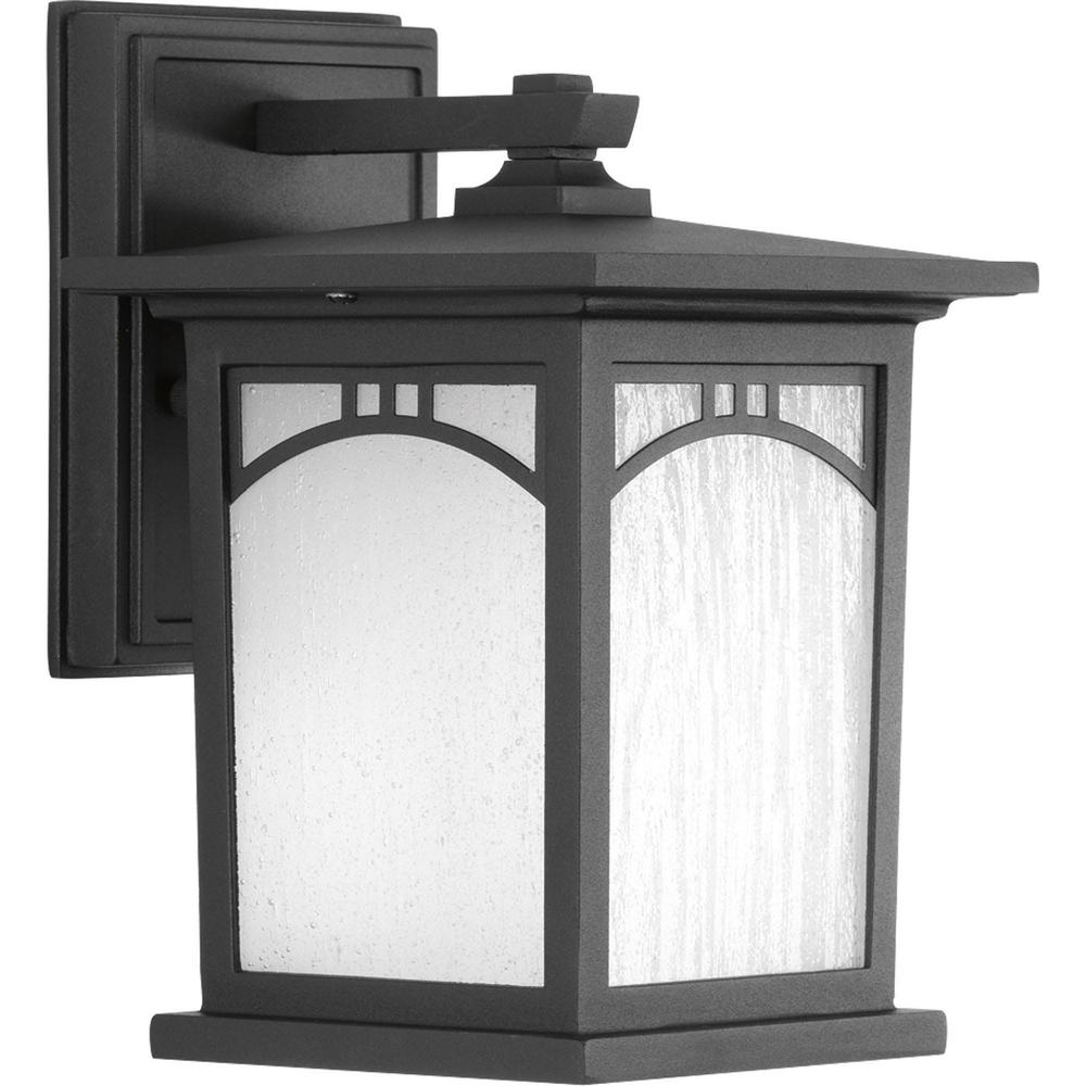 Progress Lighting Residence Collection 1 Light Outdoor 6 Inch Textured White LED Wall Lantern P6608 3030K9DI
