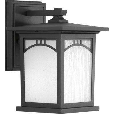 Residence Collection 1-Light Outdoor 6 Inch Textured Black LED Wall Lantern