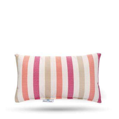 Outdura Notion Reef Rectangular Lumbar Outdoor Throw Pillow (2-Pack)
