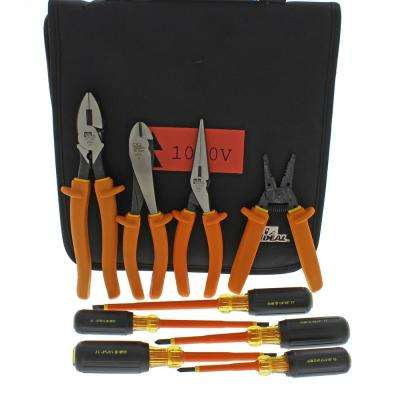 9-Piece 1000-Volt Insulated Tool Kit with Bag