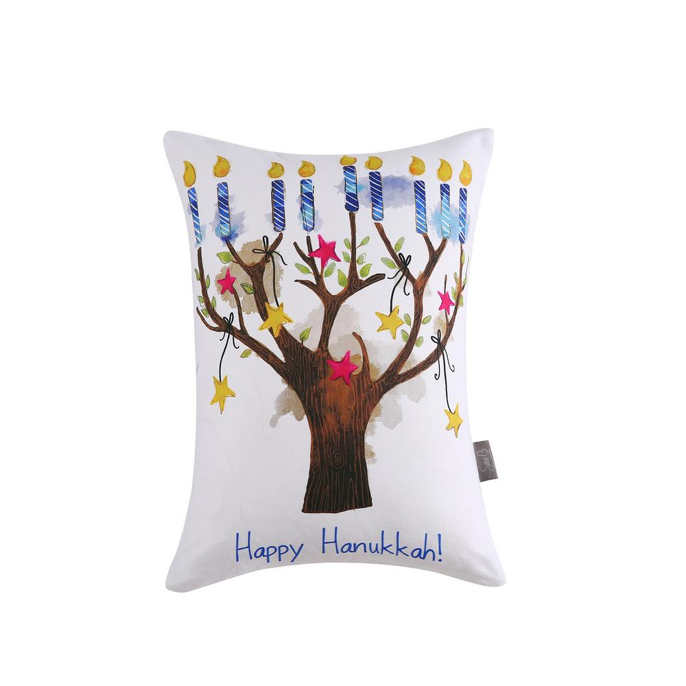 Hanukkah Tree Reversible 12 in. x 16 in. Decorative Pillow