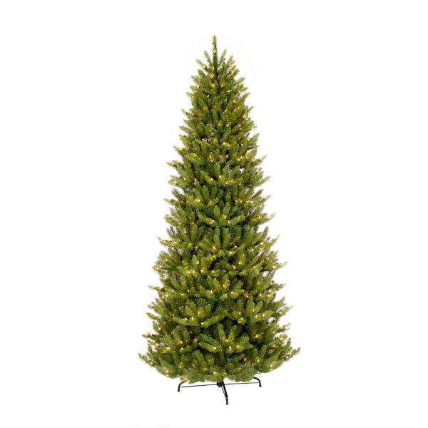 12 ft. Pre-Lit Incandescent Slim Fraser Fir Artificial Christmas Tree with 1200 UL Clear Lights