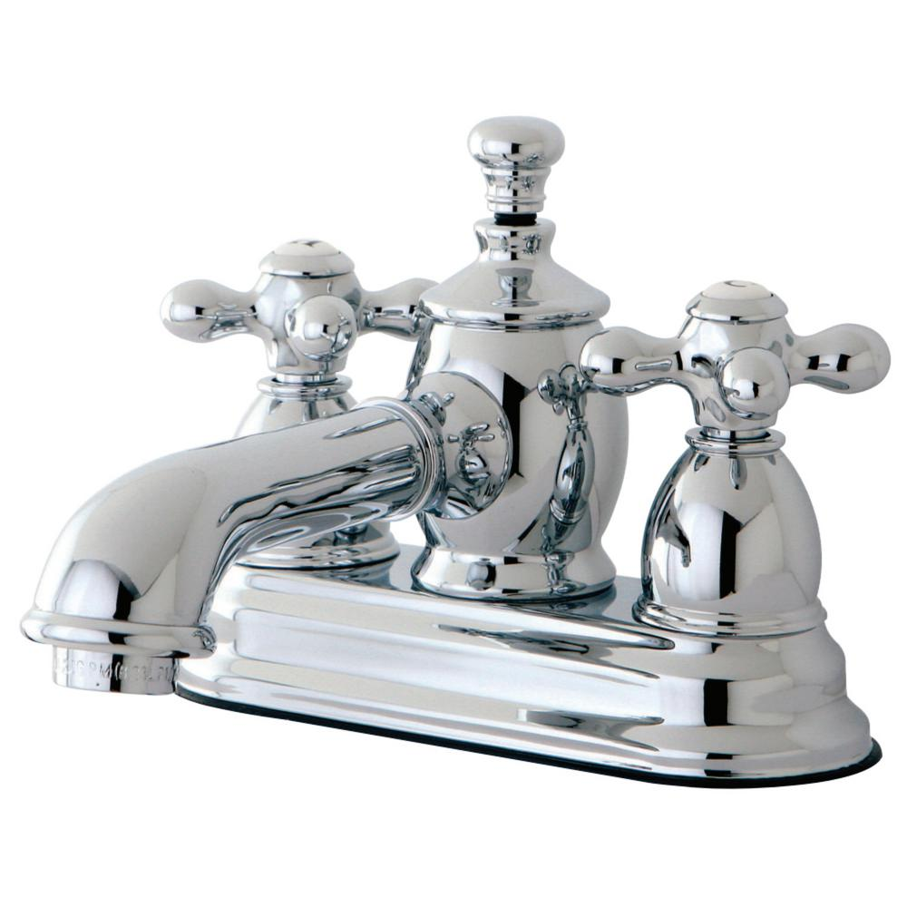Kingston Brass English Country 4 in. Centerset 2-Handle Bathroom Faucet in Chrome