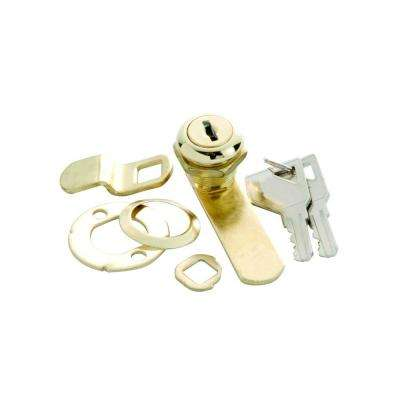 5/8 in. Polished Brass Keyed Alike Cabinet and Drawer Utility Cam Lock
