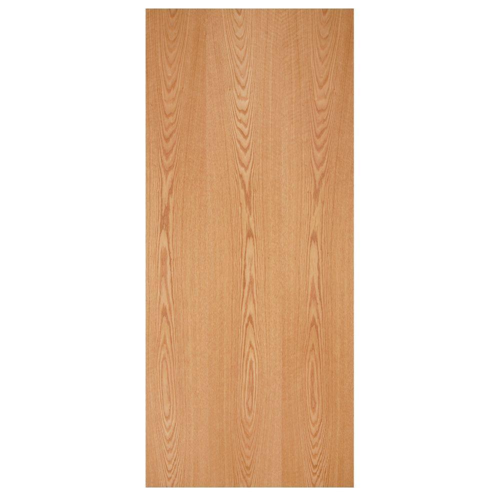 Masonite 30 In X 80 In Smooth Flush Hardwood Hollow Core Oak
