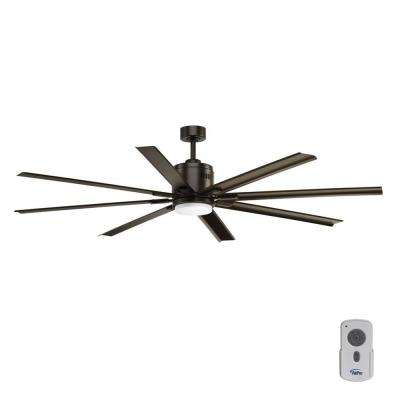 Vast Collection 72 in. LED Indoor Antique Bronze Ceiling Fan with Light Kit and Remote