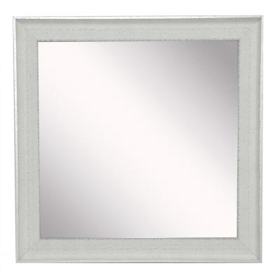12 in. W x 12 in. H Framed Square Bathroom Vanity Mirror in Ivory