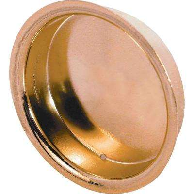 Brass-Plated Bypass Wardrobe Door Pull (2-Pack)