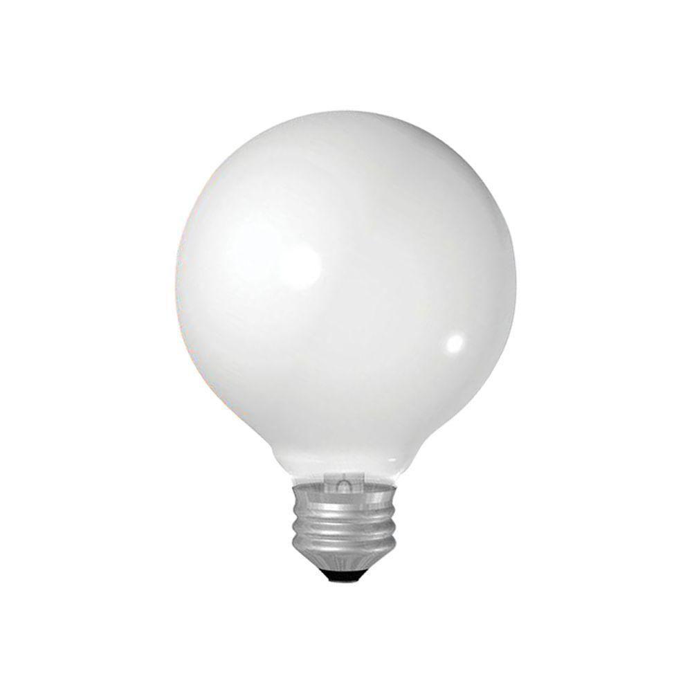 40-Watt Incandescent G25 Globe Double Life Crystal Clear Light Bulb (2-Pack)