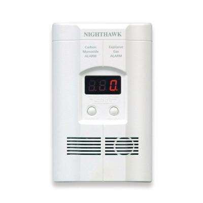 Plug-In Combination Explosive Gas/Carbon Monoxide Alarm Detector with Battery Back-Up