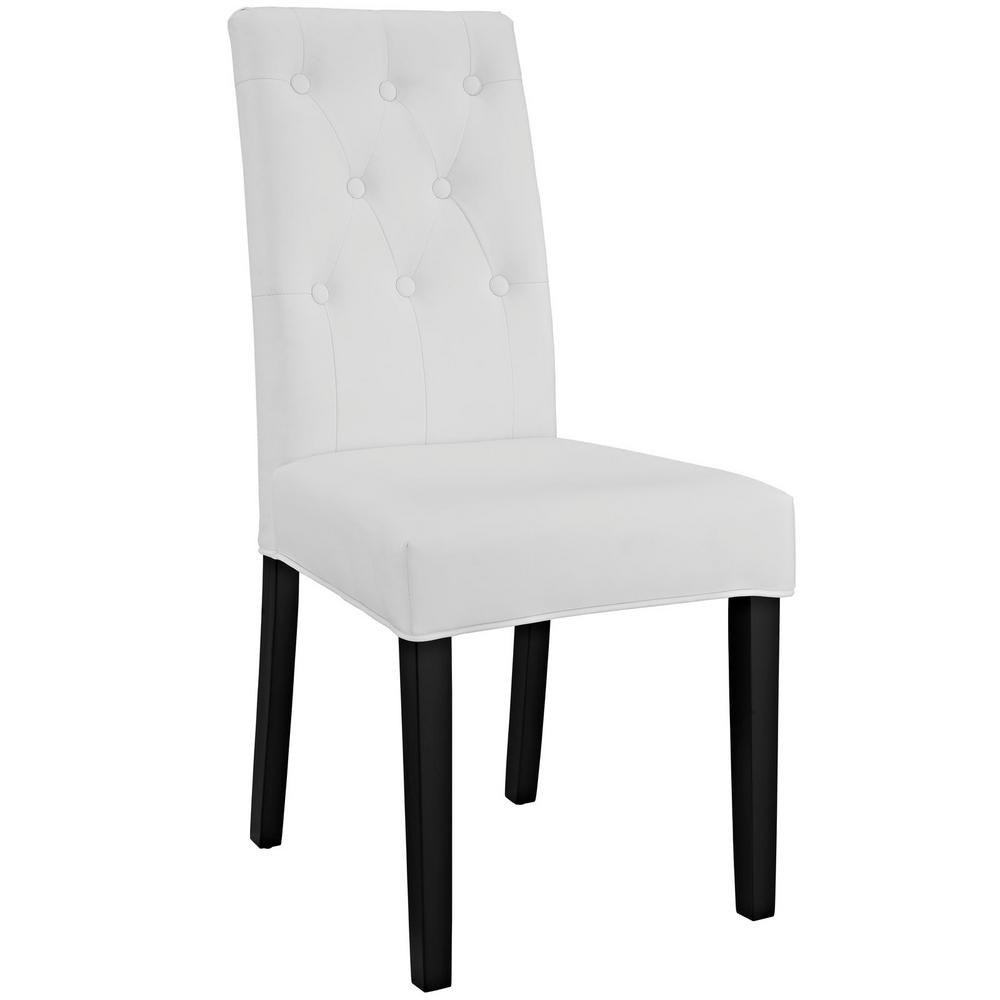 Confer White Dining Vinyl Side Chair