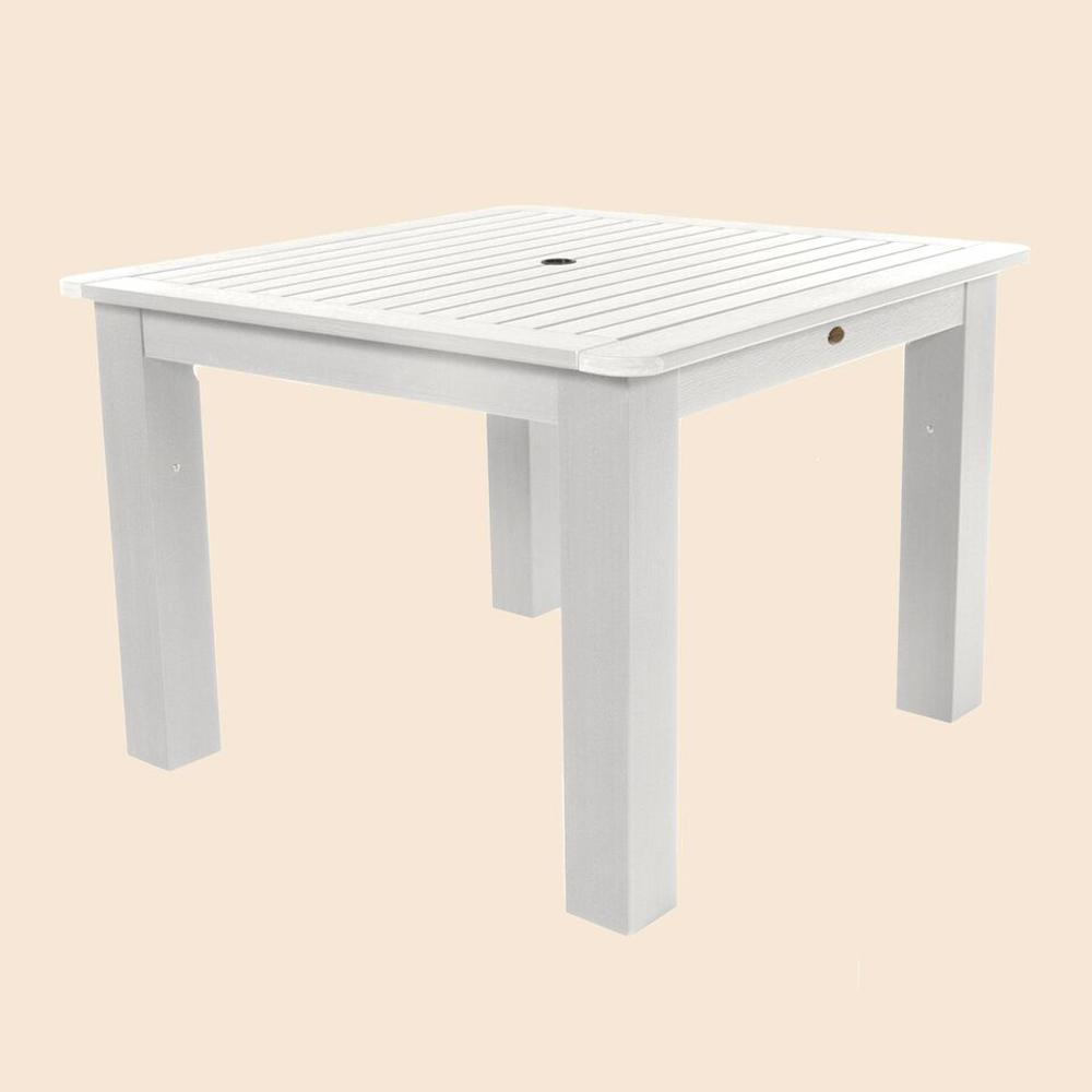 Highwood White Square Recycled Plastic Outdoor Dining