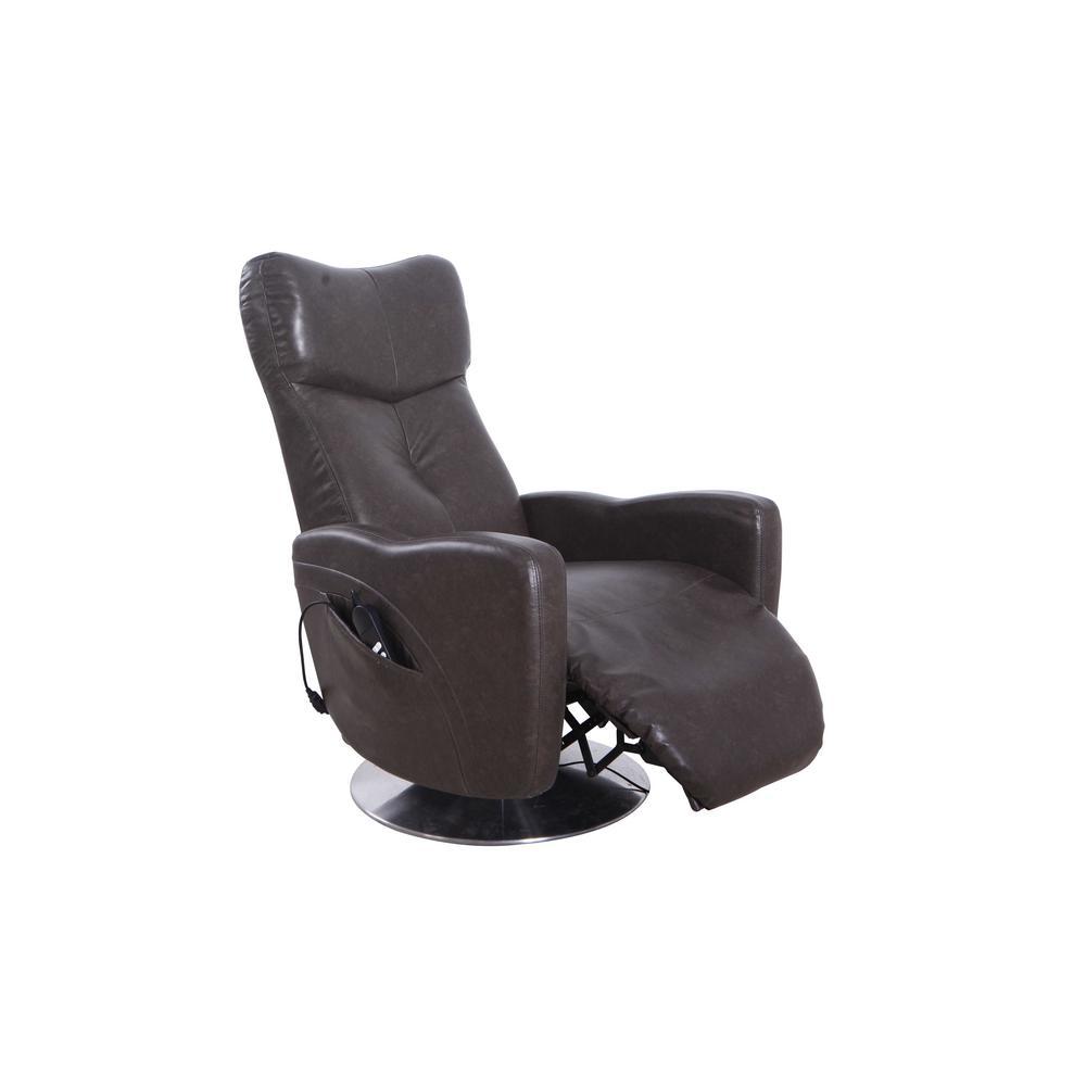 Relax-R Vestal Black Pepper Air Leather Power Recliner