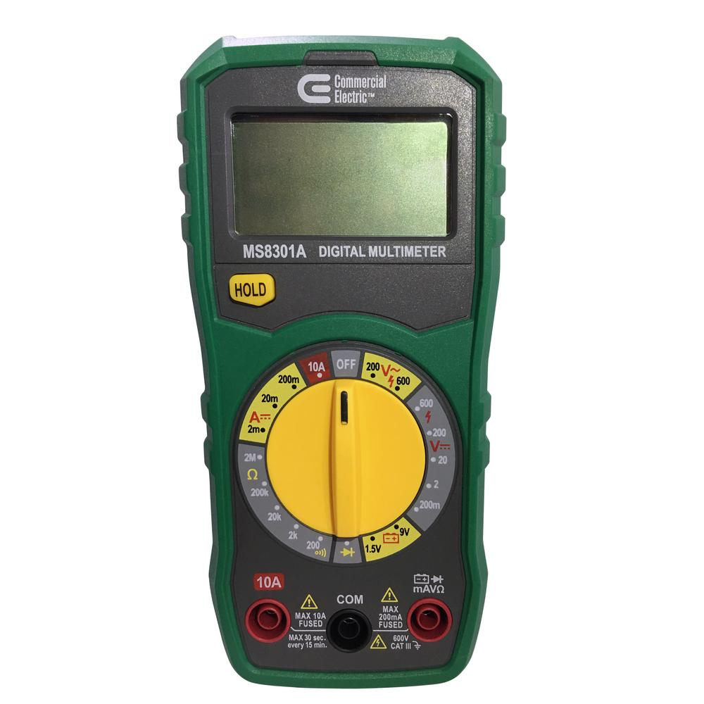 Commercial Electric Manual Ranging Multimeter Mmm 8301s
