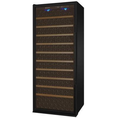 Vite II Tru-Vino Single Zone 277-Bottle Black Left Hinge Wine Refrigerator