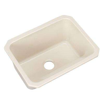 Kensington Undermount Acrylic 25 in. Single Bowl Utility Sink Almond