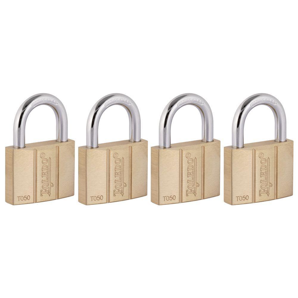 Toledo Fine Locks Brass Keyed Padlock (4-Pack) by Toledo Fine Locks