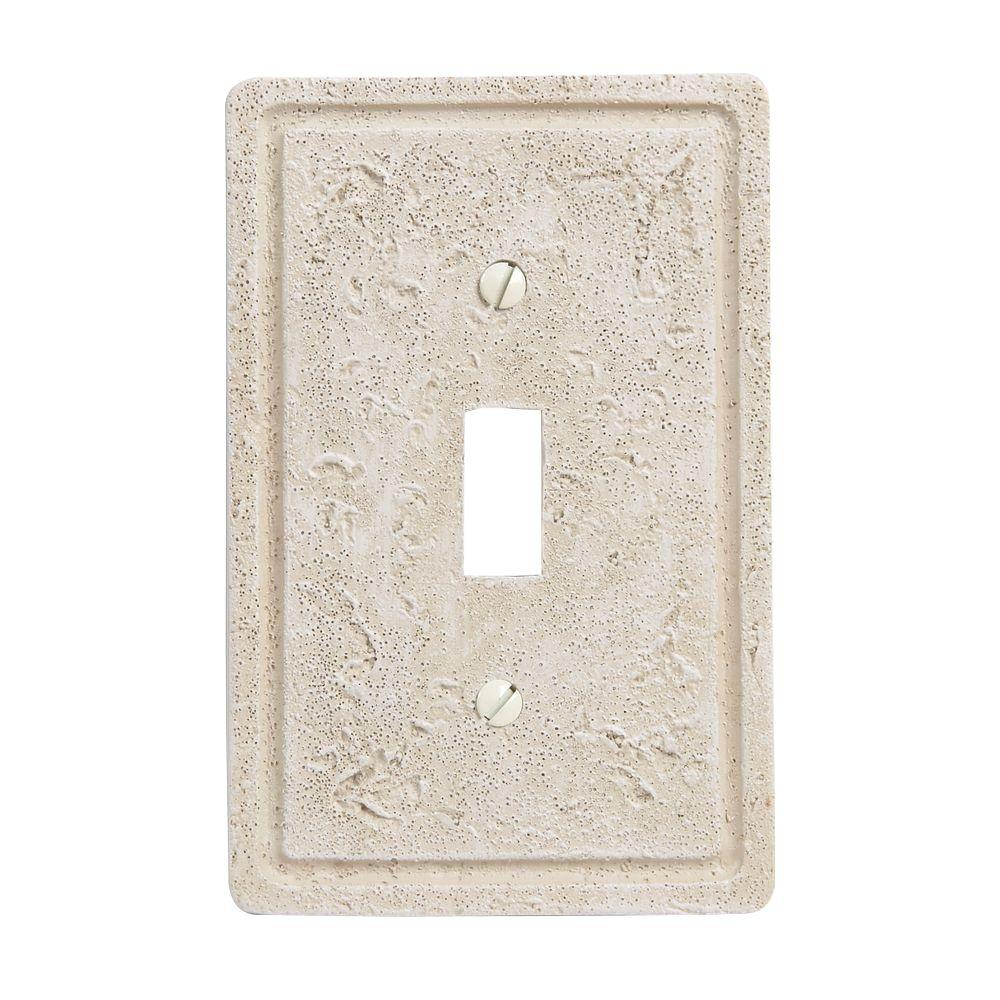 Amerelle Faux Stone 1 Toggle Wall Plate - Toasted Almond