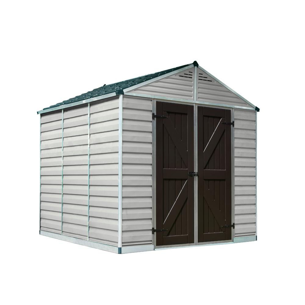 Palram SkyLight 8 ft. x 8 ft. Tan Storage Shed