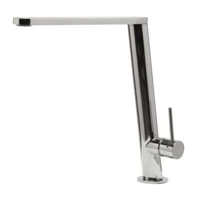 Single-Handle Standard Kitchen Faucet in Polished Stainless Steel