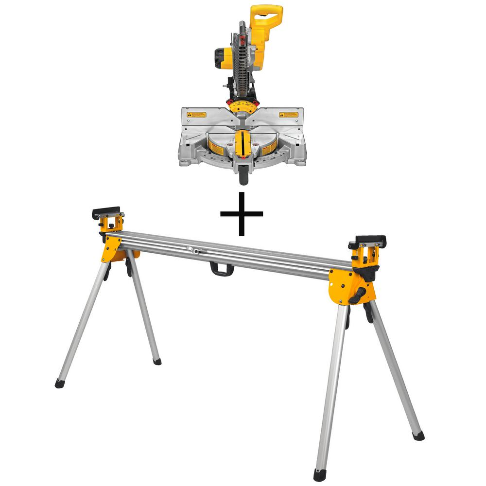 DEWALT 15 Amp Corded 12 in. Compound Double Bevel Miter Saw with Bonus Heavy-Duty Miter Saw Stand was $548.0 now $379.0 (31.0% off)