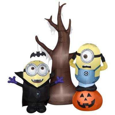 5 ft. Airblown-Minions with Tree and Pumpkin Scene-Universal