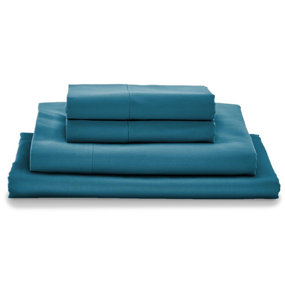Giza Lake Blue Queen Bed Sheet Set