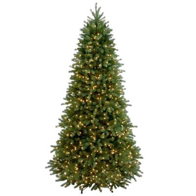 7-1/2 ft. Feel Real Jersey Fraser Slim Fir Hinged Artificial Christmas Tree with 800 Clear Lights