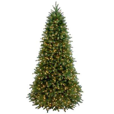 Feel Real Jersey Fraser Slim Fir Hinged Artificial Christmas - Incandescent - Most Realistic - Artificial Christmas Trees