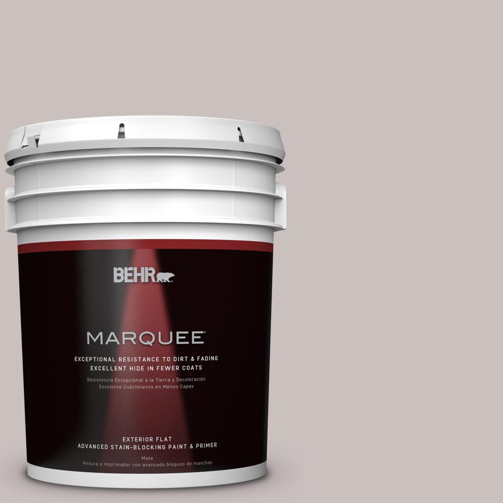 5-gal. #N140-2 Chicago Fog Flat Exterior Paint