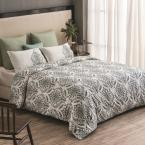 A1 Home Collections Trellis Reversible Print 100% Organic Cotton Wrinkle Resistant Duvet Set and Insert