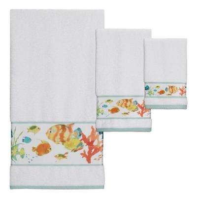 Rainbow Fish 3-Piece 100% Cotton Towel Set