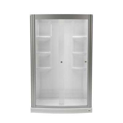 Ovation 33 5 In X 48 75 25 Combo Piece Shower Kit Arctic And Brushed Nickel