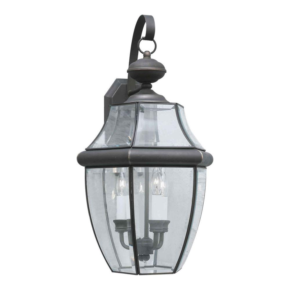 Talista 3-Light Outdoor Royal Bronze Wall Lantern with Clear Beveled Glass