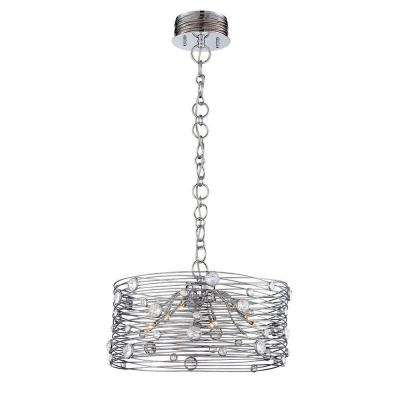 Corfo 12-Light Chrome and Clear Chandelier