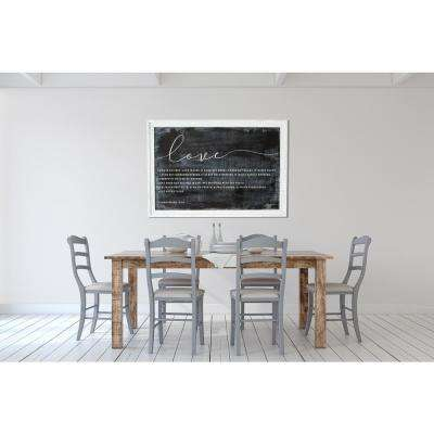 """27.25 in. H x 39.25 in W """"Love"""" by SMD Printed Framed Wall Art"""