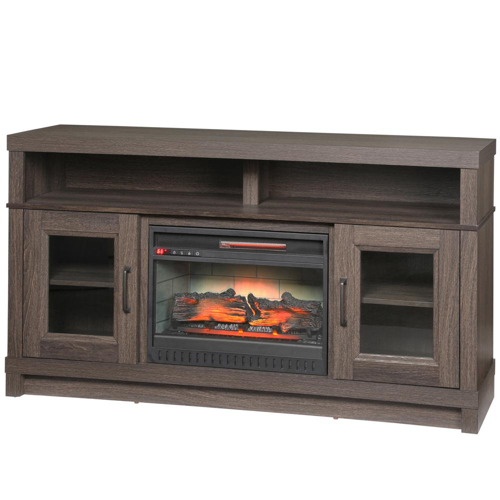 real flame valmont 76 in media console electric fireplace tv stand in chestnut oak 7930e co. Black Bedroom Furniture Sets. Home Design Ideas