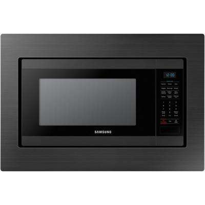 29.8 in. Trim Kit for Samsung MS19M8000AG Countertop Microwave - Black Stainless Steel (1-Pack)