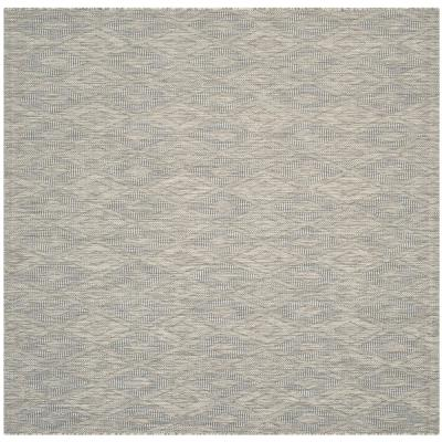 Courtyard Gray 5 ft. x 5 ft. Indoor/Outdoor Square Area Rug