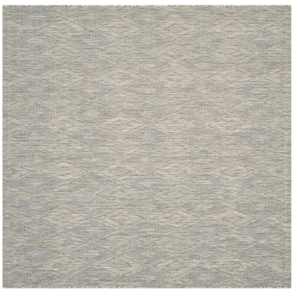 Safavieh Courtyard Gray 5 Ft X 5 Ft Indoor Outdoor Square Area Rug Cy8522 36811 5sq The Home Depot