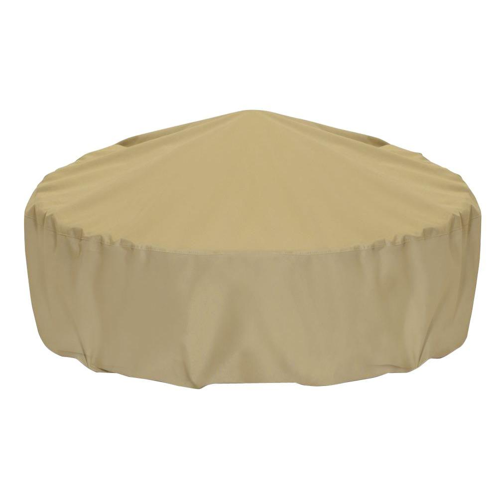 Two Dogs Designs 80 in. Fire Pit Cover in Khaki