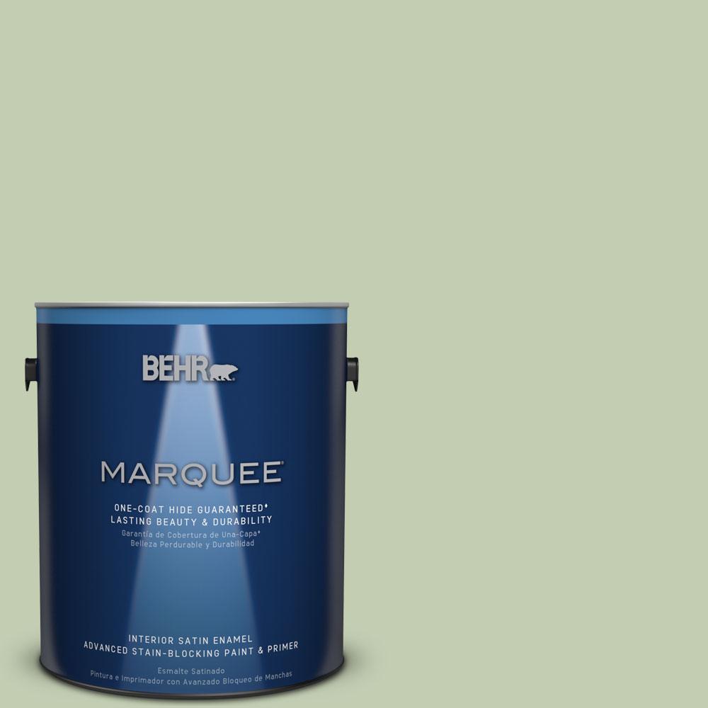 1 gal. #M380-3 Growing Season One-Coat Hide Satin Enamel Interior Paint