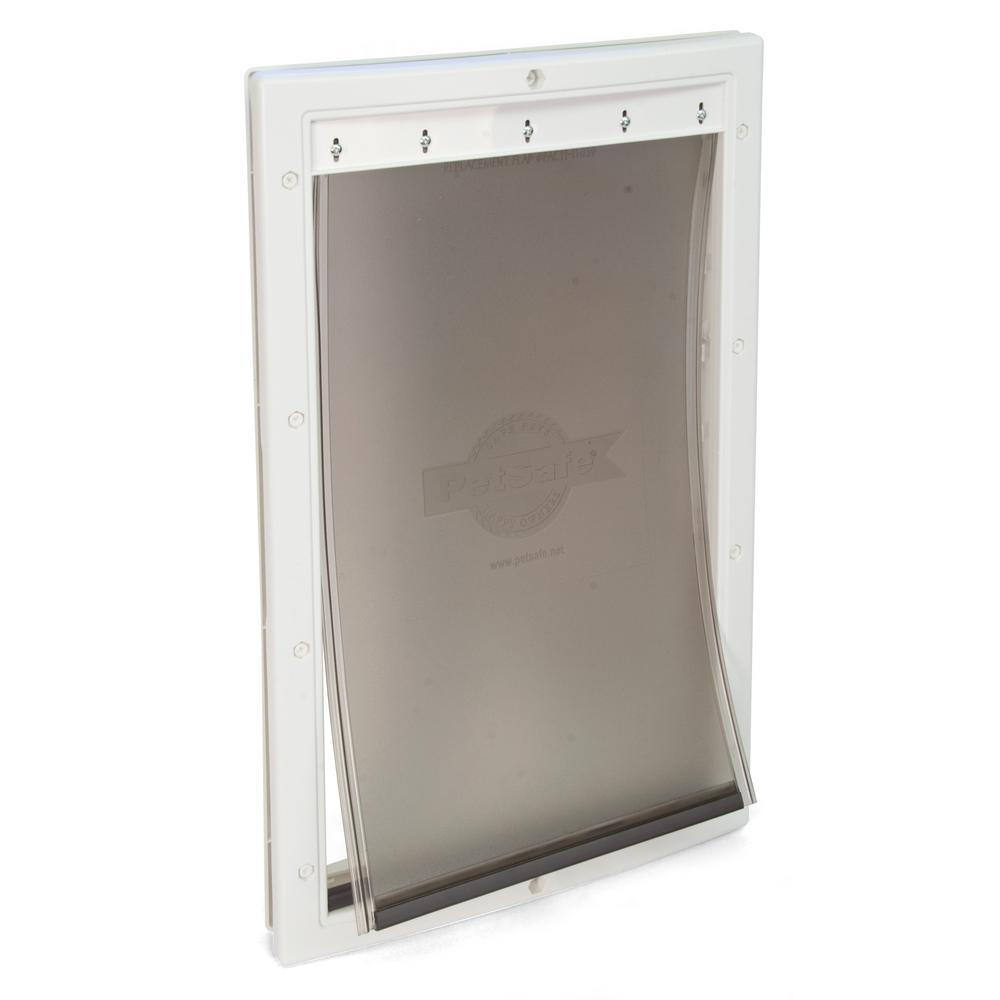 10-1/8 in. x 16-1/4 in. Large White Plastic Pet Door