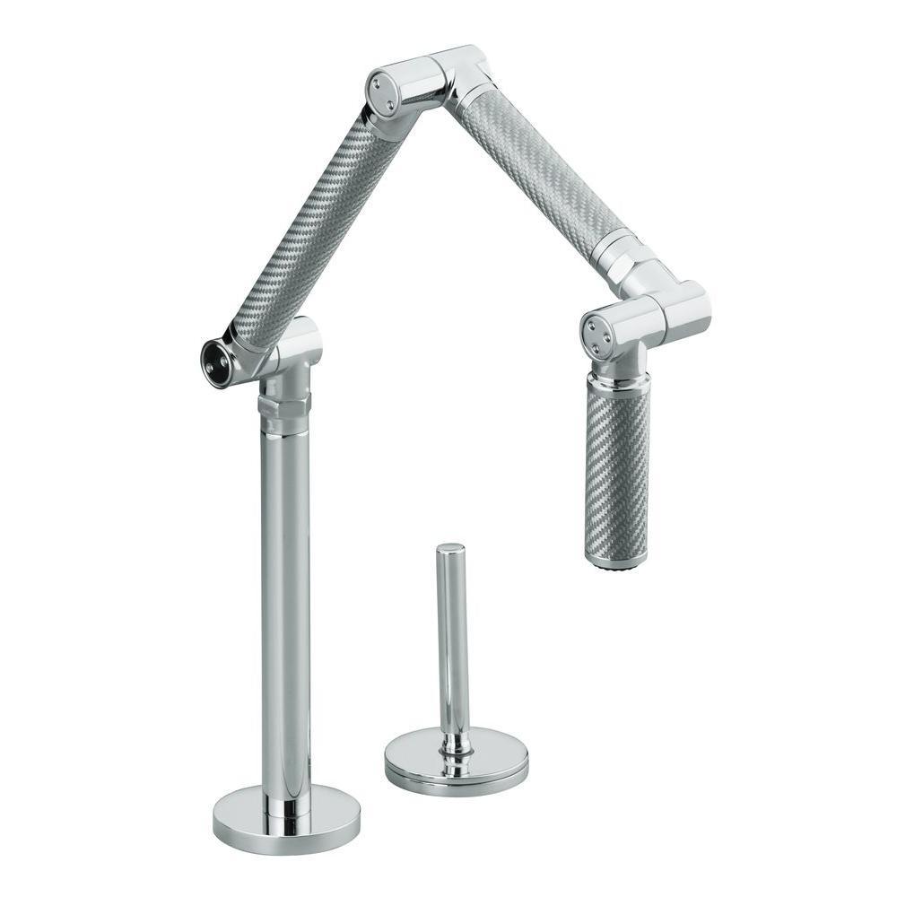kohler karbon deck mount single handle mid arc sprayer standard rh homedepot com kohler karbon kitchen faucet reviews