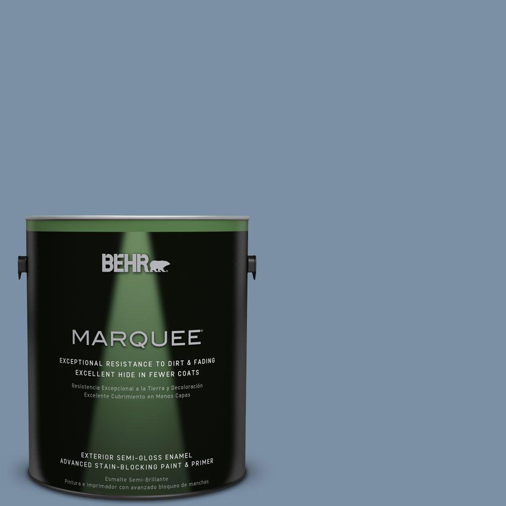 1-gal. #S510-4 Jean Jacket Blue Semi-Gloss Enamel Exterior Paint