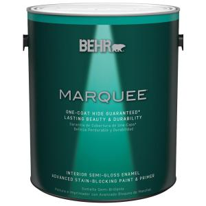 1 gal. Ultra Pure White Semi-Gloss Enamel One-Coat Hide Interior Paint and Primer in One
