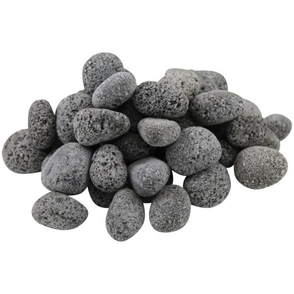 12.0 cu. ft. 1 in. to 2 in. 900 lbs. Black Lava Pebbles