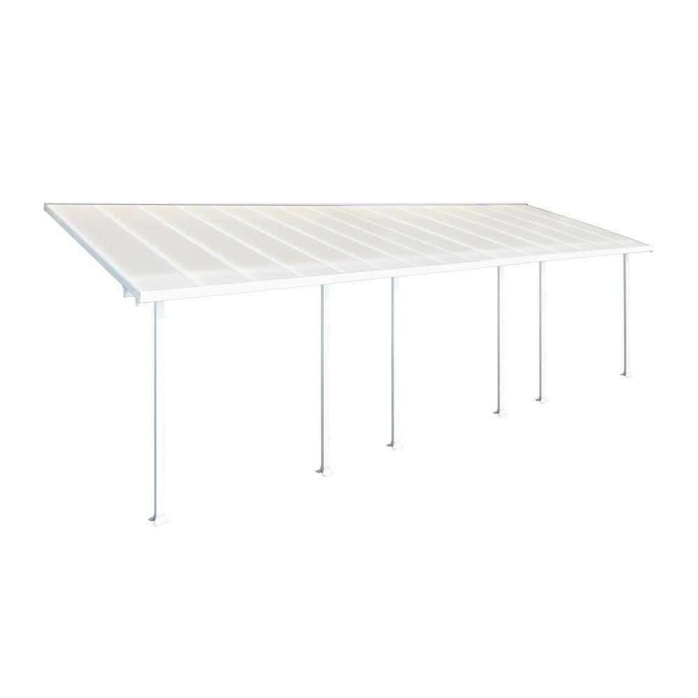 Palram Feria 10 Ft X 30 Ft White Patio Cover Awning
