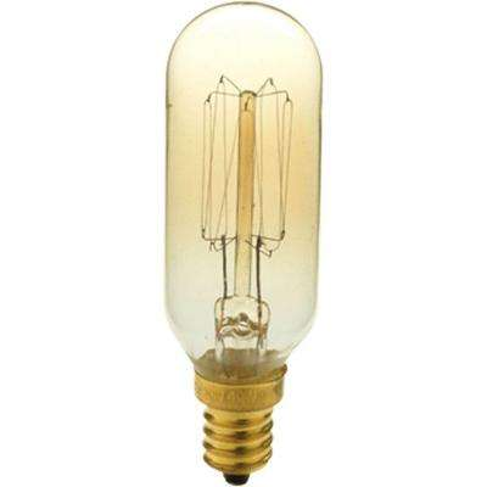 40 Watt T8 E12 Candelabra Base Vintage Amber Incandescent Light Bulb